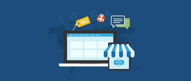 Pantalla de tienda en línea